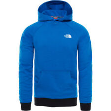 North Face Raglan Red Box Hommes Sweat à Capuche - Turkish Sea Toutes Tailles