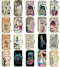 Alice In Wonderland Mad Hatter Cheshire Flip Phone Case Cover iPhone 5 6 7 8 X