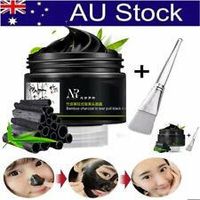 Bamboo Charcoal Blackhead Remover Deep Cleaning Peel-Off Mud Face Mask + BrushVA
