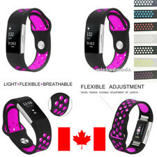 For Fitbit Charge 2 Band Silicone Sport Replacement Wrist Strap Smart Watch