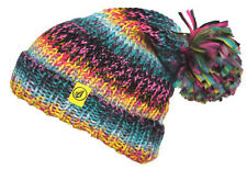 VOLCOM Chevron Beanie island green cap woman cappello multicolore donna _