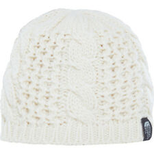 North Face Cable Minna Womens Headwear Beanie Hat - Vintage White One Size
