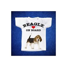 BEAGLE 4 MINI T-SHIRT DA AUTO STAMPATA IN QUALITÀ FOTOGRAFICA cane dog