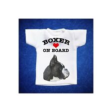 BOXER 3 MINI T-SHIRT DA AUTO STAMPATA IN QUALITÀ FOTOGRAFICA cane dog