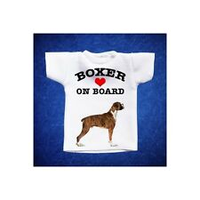 BOXER 2 MINI T-SHIRT DA AUTO STAMPATA IN QUALITÀ FOTOGRAFICA cane dog