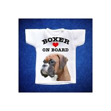 BOXER 5 MINI T-SHIRT DA AUTO STAMPATA IN QUALITÀ FOTOGRAFICA cane dog