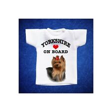 YORKSHIRE 2 MINI T-SHIRT DA AUTO STAMPATA IN QUALITÀ FOTOGRAFICA cane dog
