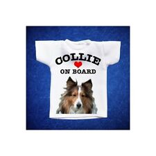 COLLIE 3 MINI T-SHIRT DA AUTO STAMPATA IN QUALITÀ FOTOGRAFICA cane dog