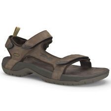 Teva Tanza Leather Hommes Chaussures Tongs - Brown Toutes Tailles