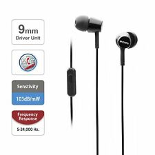Sony MDR-EX155AP In-Ear Headphones with Mic Refurbished Open Box