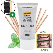 Dentifrice Charbon dent blanche - Groomarang ® Blanchiment des dents naturel