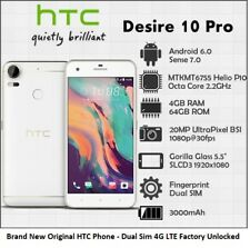 HTC Desire 10 Pro Dual Sim 4G LTE GPS WIFI Android Unlocked Smartphone - 64GB
