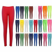 Womens Ladies Casual Plain Basic Full Ankle Length Stretched Jeggings Leggings