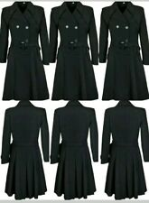 LADIES NEW DOUBLE BREASTED FLAIR FIT TRENCH MAC COAT FASHION JACKET UK MADE