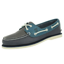 Timberland CLASSIC 2 EYE BOAT Chaussures Bateau Homme Cuir Brun Bleu