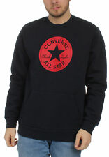 Converse Homme Pull Mandrin Patch équipage graphique 10005825 424 Bleu Marine
