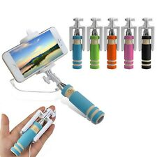 Foldable Mini Wired Handheld Extendable Selfie Stick For iPhone 8 8 Plus 7 6S 6