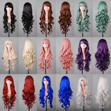 Fashion Lady 80cm Long Curly Wigs Cosplay Costume Hair Anime Full Wavy Party Wig