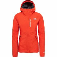 North Face Dryzzle Femmes Veste Imperméables - Fire Brick Red High Rise Grey