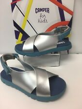 Camper Mira Girl Sandals In Metallic Silver (K800163-002) Now Only £29.90