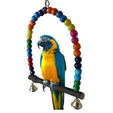 Bird Toys Parrot Parakeet Cockatiel Finch Lovebirds Budgie Cage Swing With Bell