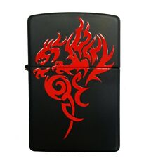 Zippo Lighter Original-Engraved Gift-21067-Hidden Dragon on Black Matte