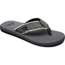 Quiksilver Monkey Abyss Hommes Chaussures Tongs - Grey Black Toutes Tailles