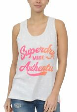 Superdry Damen Tank MADE AUTHENTIC AOP ENTRY VEST Ice Marl