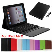 FOLIO LEATHER CASE COVER BLUETOOTH WIRELESS KEYBOARD FOR APPLE IPAD AIR 2