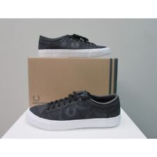 Scarpe uomo Fred Perry sneakers Kandrig Tripped nero (mod. guess, hogan, armani)