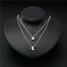 New Fashion Women Jewelry Chain Choker Star Moon Pendant Statement Necklace