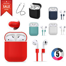 Apple AirPods Case Cover + AirPod Sport Strap Silicone Protective Red