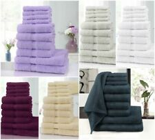 Luxury Soft 10 Piece 100% Egyptian Cotton Towel Bale Sets Hand &Face Bath Towels