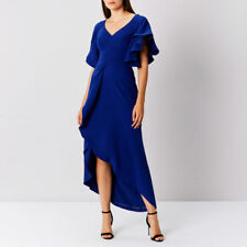 New COAST Saph Blue High Low Cocktail Evening Maxi Prom Dress Size 8,10,12 £159