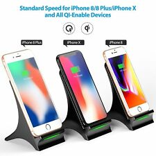New Qi Wireless Charger Charging Pad Dock For Apple iPhone 8 Plus X +Cooling Fan