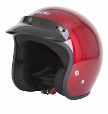 Spada  Open Face Motorcycle Motorbike Helmet -  Gloss Candy Red
