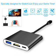 Coov SH350 Dock USB-C Type-C to HDMI Hub Charger Adapter for Nintendo Switch NS