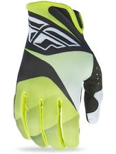 Guantes MX Fly Racing 2017 Lite Lime-negro-blanco