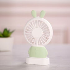 Portable Handheld Cooling Fan LED Cute Rabbit Handheld USB Rechargeable Fan Gift