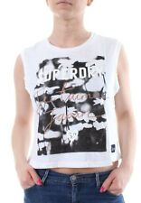 Superdry Camiseta sin mangas mujer Photographic Daisy Chaleco OPTIC
