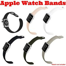 Apple Watch Sports Band - 38m/42mm  series 1, 2, & 3  Multiple Sizes and Colors