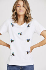 Embellished Bee Tshirt in White