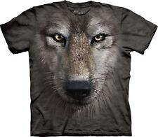 The Mountain Unisexe Enfant Loup Visage T Shirt