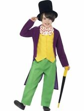 Child Roald Dahl Willy Wonka Boys Costume from Charlie Chocolate Factory New