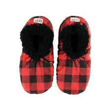 LazyOne Unisex Moose Plaid Fuzzy Feet Slippers Adult