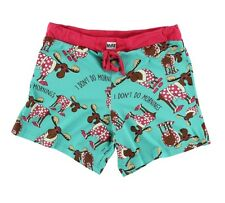 LazyOne Junior Womens Don't Do Mornings Moose PJ Boxers