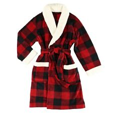LazyOne Unisex Moose Plaid Bathrobe Adult