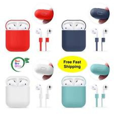 Case Cover for Apple AirPods + AirPod Strap Silicone Protective Chargi