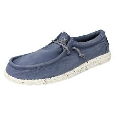Mens WALLY WASHED Lace Up Canvas shoes By Hey Dude £50.00