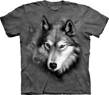 The Mountain Maglietta Wolf Portrait Animal Bambino Unisex